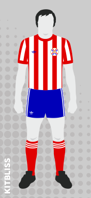 Paraguay (home) 1979 by Adidas