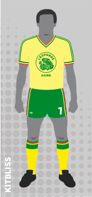 Zaire home 1974 by Adidas
