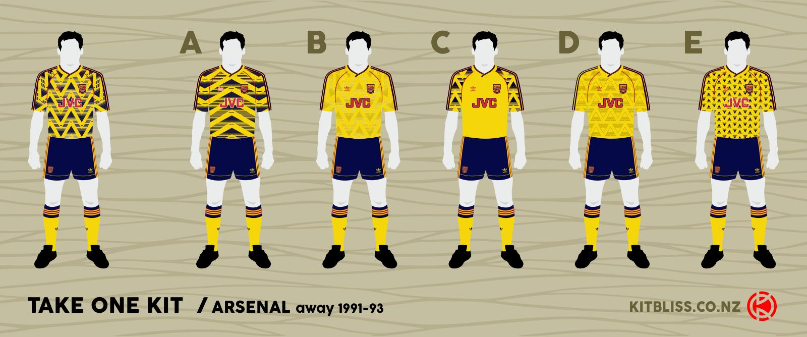 new style f5268 3efe4 Kitbliss - Take One Kit - Arsenal away 1989-91